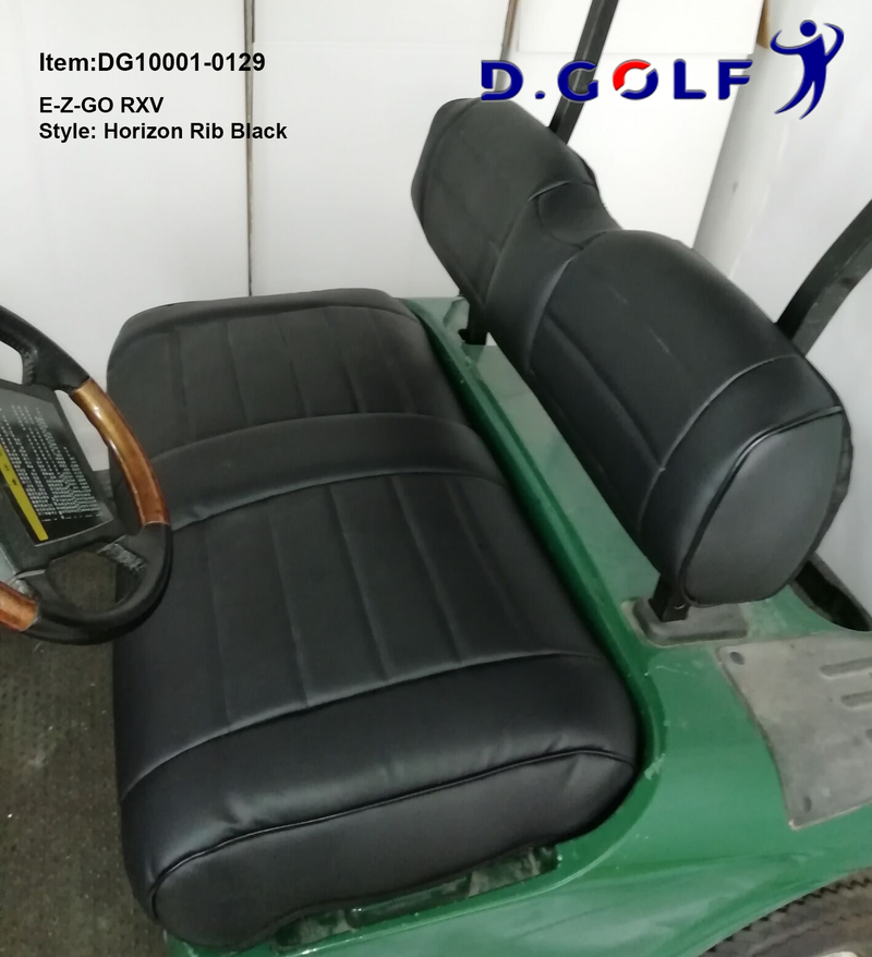 D GOLF Club Car Precedent Luxury Seat Cover EZGO Black