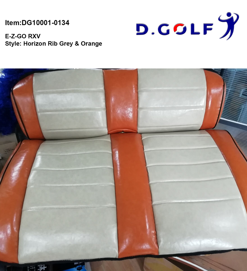 D GOLF Club Car Precedent Luxury Seat Cover EZGO Orange & Grey