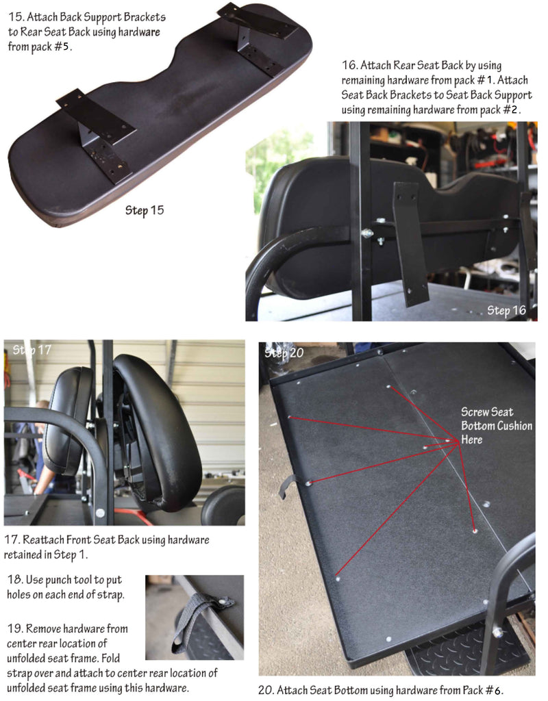 Club Car Precedent Seat Kits