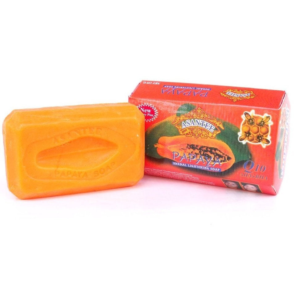 5 original exklusiva Asantee Papaya Honey Soap Bars för 24.99 EURO!