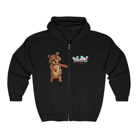 Floss Bear Zip Hooded Sweatshirt