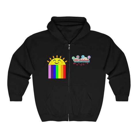 SunRainbow Zip Hooded Sweatshirt