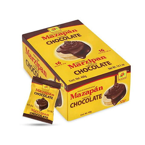 De la Rosa Marzipan covered with Chocolate - 16 pcs