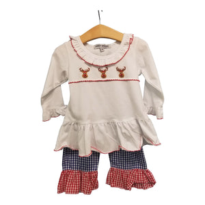 Reindeer Girl Long Set