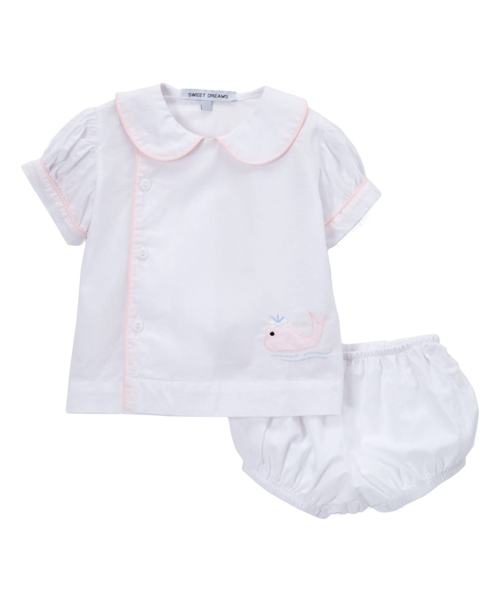 Pink Whale Diaper Set