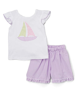 Sailboat Shorts Set