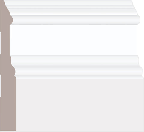 "5"" Traditional Heritage Baseboard BB130 - 16FT PC"