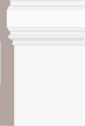 "7-3/8"" U/L MDF Prmd Baseboard BB142 - 16FT PC"