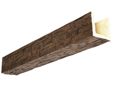 "Faux Wood Beam - Hand Hewn 120"" (10FT)"