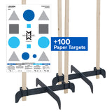Legion Cross Target Stand Bundle (2 Stands and 100 Paper Targets)
