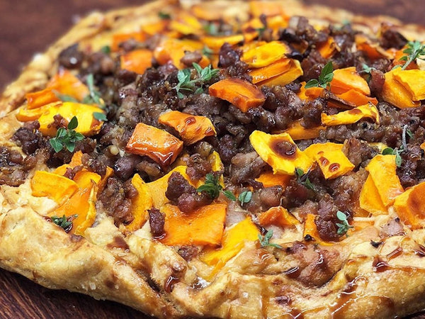 Squash and Sausage Crostata with Ricotta and Honey