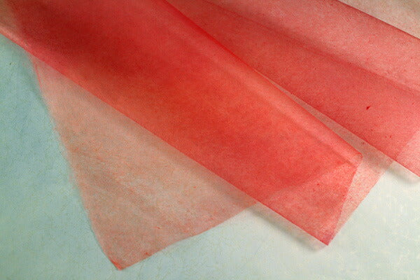 Tengu Paper Colored Extra thin Gradation Faded Red 1803