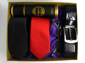 Men's Gift Pack - Eyeglasses, 2 Neckties, Belt & Body Spray