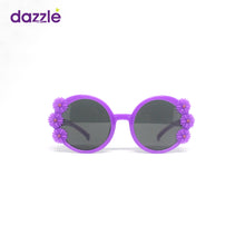 Load image into Gallery viewer, Kids Girls Round Flower Sunglasses - Purple (4 - 12 Yrs)