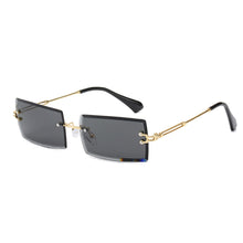 Load image into Gallery viewer, Gold-Black Trendy Retro Fashion Rimless Sunglasses for Men and Women