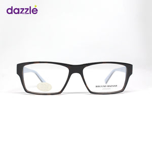 Men and Women's Thick Frame Tortoise / Sky Blue Acetate Rectangle Shaped Eyeglasses