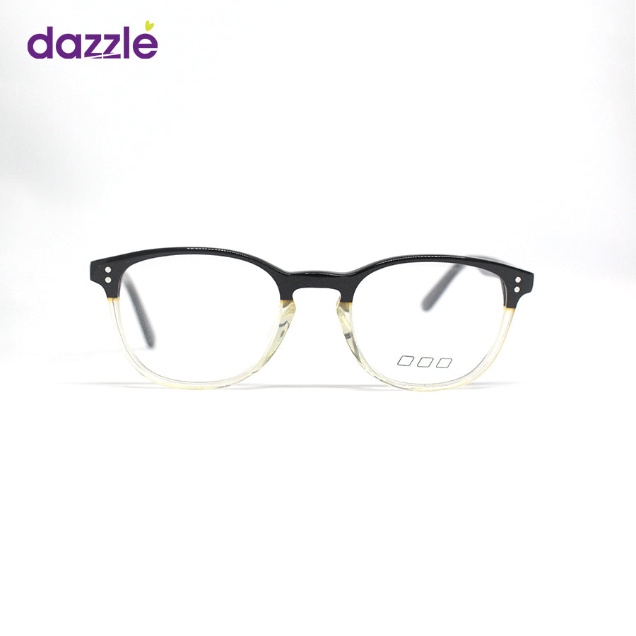 Male and Female Semi-Transparent Clear Acetate Glasses