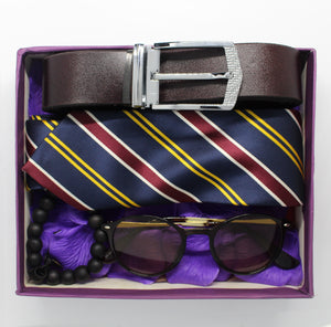 Men's Gift Pack - Sunglasses, Necktie, Bracelet & Belt