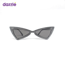 Load image into Gallery viewer, Big Kids & Teens Trendy Rhinestone Cat Eye Sunglasses - Black