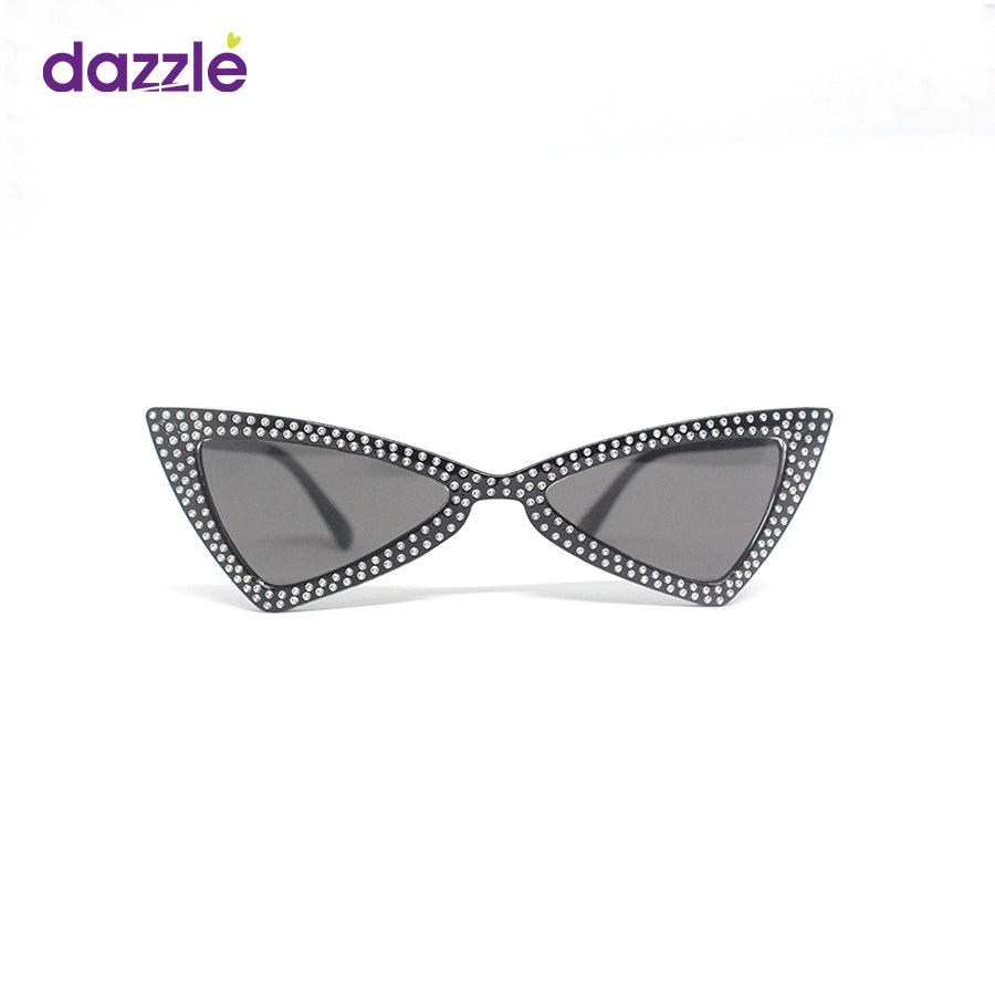 Big Kids & Teens Trendy Rhinestone Cat Eye Sunglasses - Black