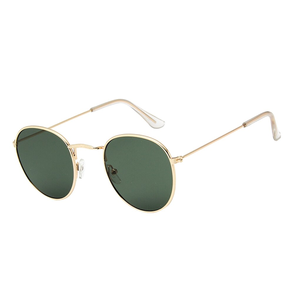 Unisex Polarized Retro Round Metal Aviator Classic Sunglasses