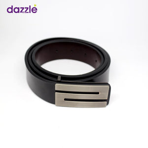 Affordable Quality Leather Belt for Men - Black - Merch