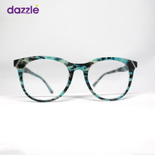 Load image into Gallery viewer, Aqua & Black Print Acetate Fashionable Trendy High Quality