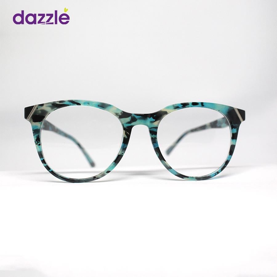 Aqua & Black Print Acetate Fashionable Trendy High Quality
