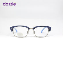Load image into Gallery viewer, Blue and Silver Rectangle Shaped Kids Eyeglasses for Boys