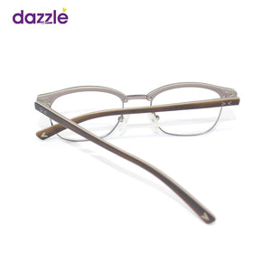Brown Rectangle Kids Eyeglasses Unisex - Eyewears