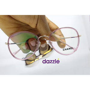 Clear Fashion Glasses - Rose - Opticals
