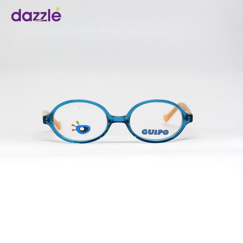 Guipo Round Blue and Mustard Yellow Acetate Eyeglasses for