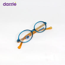 Load image into Gallery viewer, Guipo Round Blue and Mustard Yellow Acetate Eyeglasses for