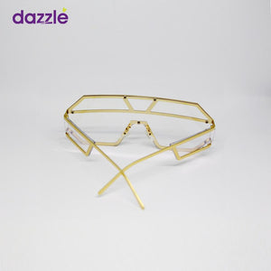 High Fashion Unisex Statement Frames - Gold - Sunglasses