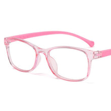 Load image into Gallery viewer, Kids Colorful Silicon Anti-Blue Light UV Glasses - Pink