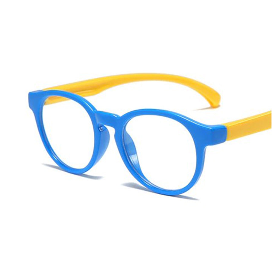 Children's Silicon Anti-Blue Light UV Glasses - Blue and Yellow