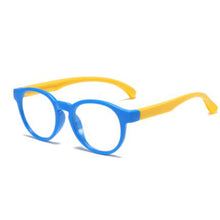 Load image into Gallery viewer, Children's Silicon Anti-Blue Light UV Glasses - Blue and Yellow