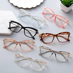 Ladies Black & Gold Cat Eye Optical Glasses Frame - Eyewears
