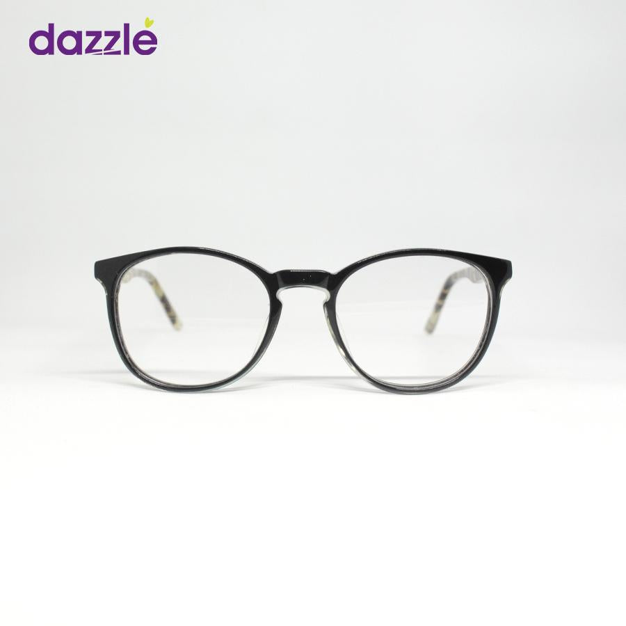 Black and Animal Print Unisex Stock Frame - Opticals