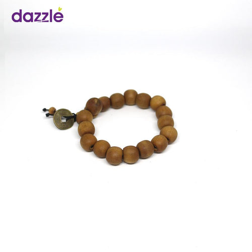 Men's Bead Bracelect - Light Brown - Merch