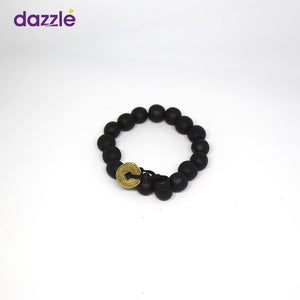 Men's Beaded Bracelect - Dark Brown - Merch