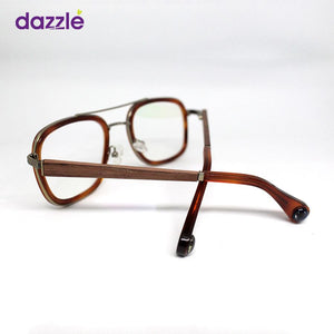 Men's Classic Vintage Wooden Metal & Acetate Stock Frame