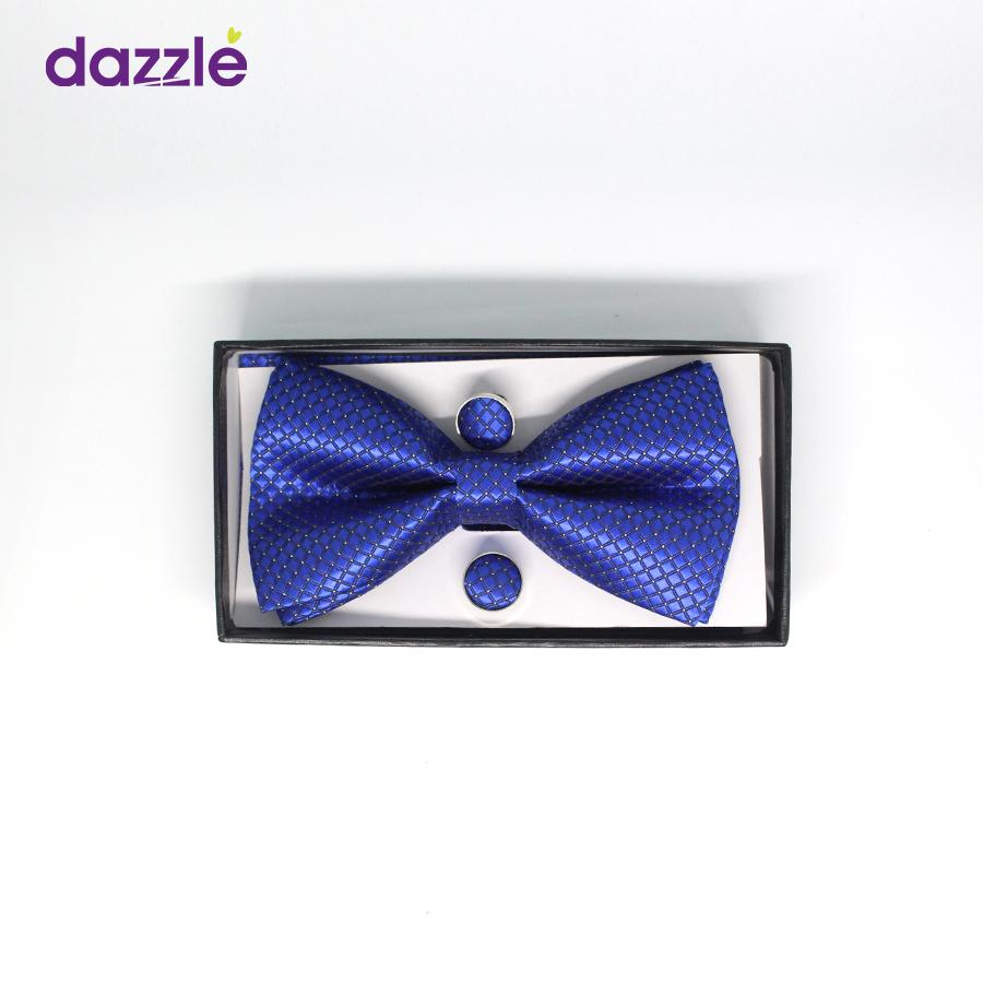Men's Classy Bow Tie with Cufflinks - Blue - Merch