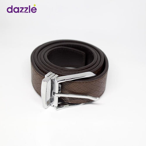 Men's Leather Belt - Chocolate Brown - Merch