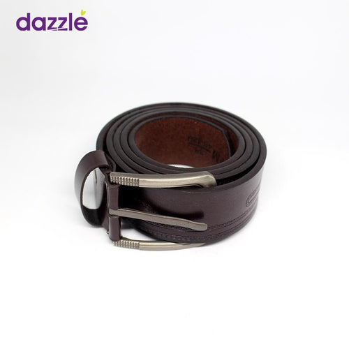 Men's Leather Belt - Dark Brown - Merch