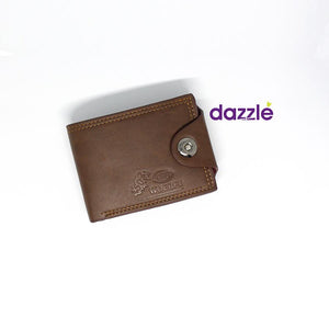 Men's Leather Wallet - Brown - Merch