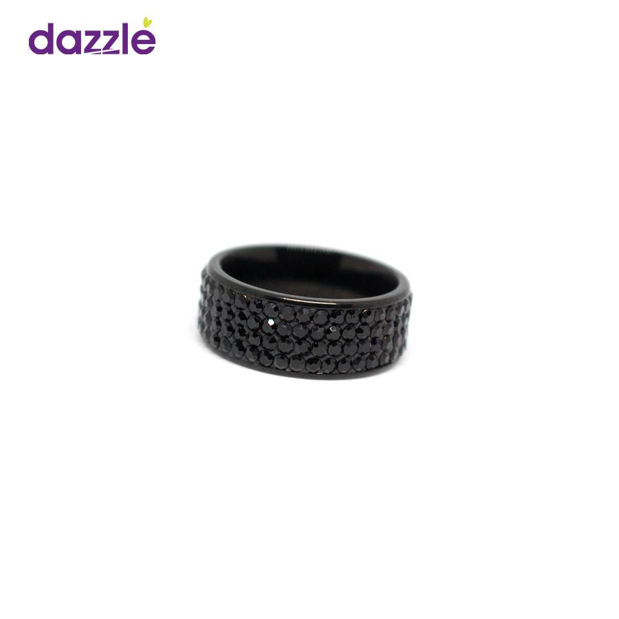 Men's Round Fashion Ring - Black - 12 - Merch