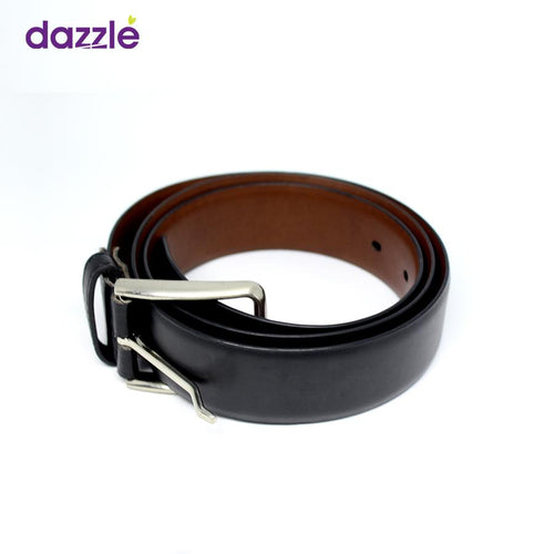 Men's Simple Leather Belt - Black - Merch