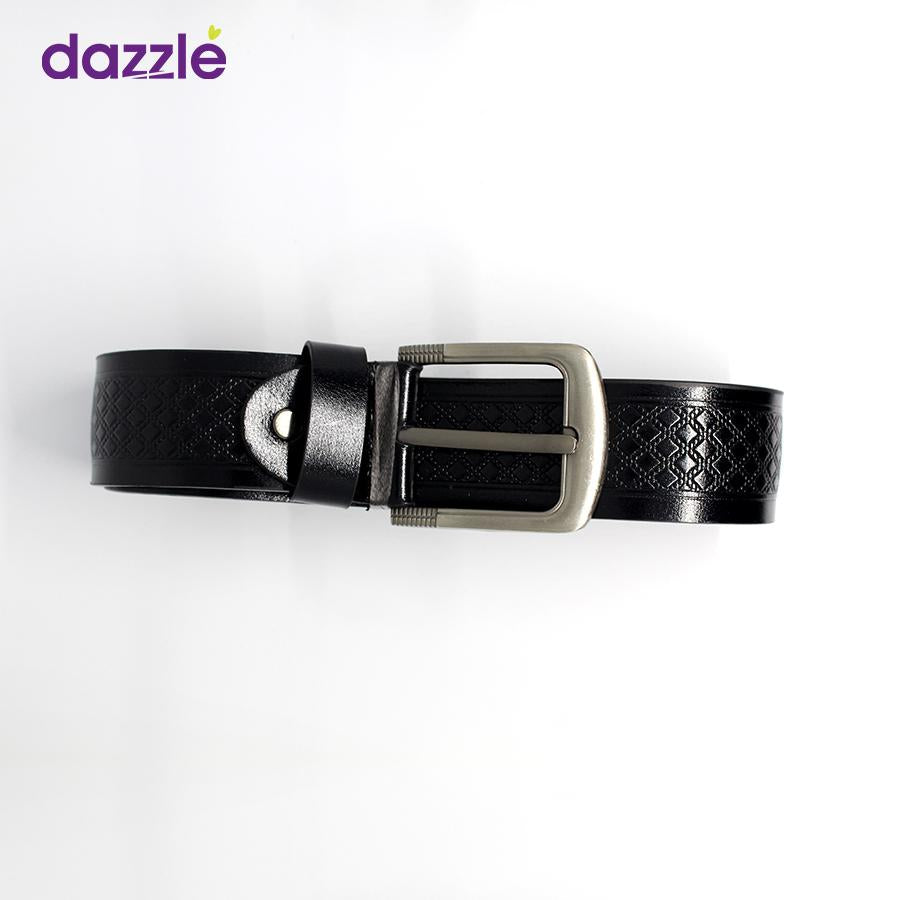 Quality Leather Belt for Men - Black - Merch