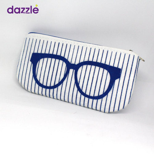 Sunglasses & Frames Pouch - White and Blue - Eyewear
